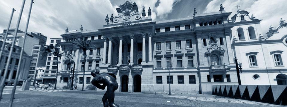 Fachada da Faculdade de Direito do Largo de São Francisco.